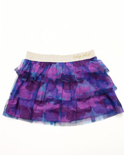 Girls - CAMO MESH TIERD SKIRT (2T-4T)