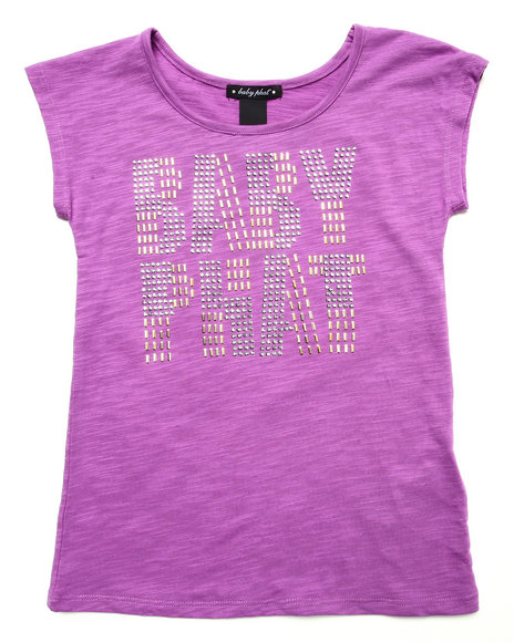 Baby Phat - Girls Violet Studded Logo Top (7-16) - $10.99