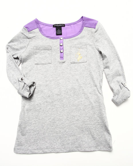 Baby Phat - COLOR BLOCK HENLEY (7-16)