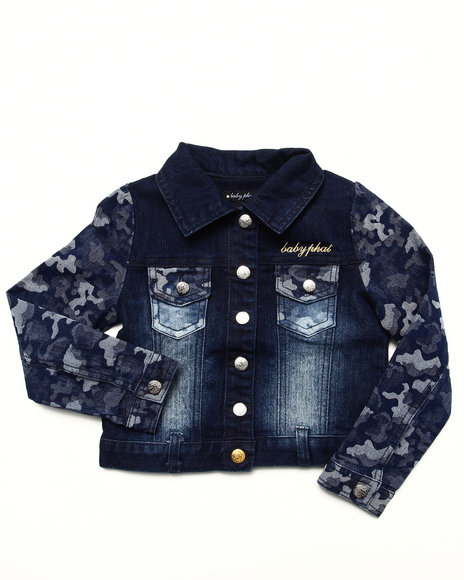 Baby Phat - CAMO DENIM JACKET (4-6x)