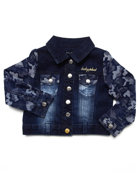 Baby Phat - Girls Camo Camo Denim Jacket (2T-4T)