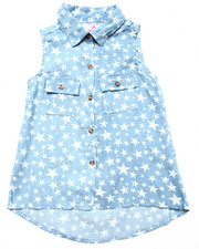 Tops - STAR PRINT DENIM SHIRT (7-16)