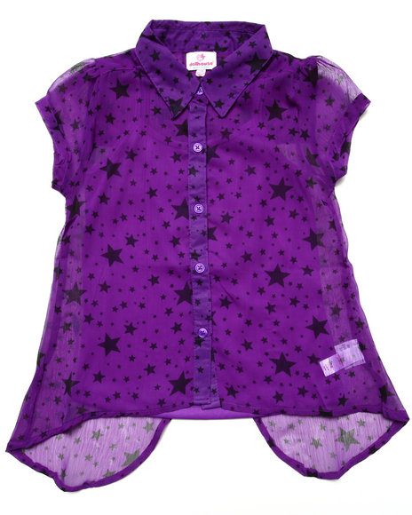 Dollhouse Purple Fashion Tops