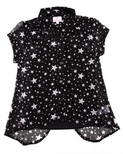 Girls - STARS CHIFFON TOP (7-16)