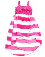 Dresses - POLKA DOT & STRIPE CHIFFON DRESS (4-6X)
