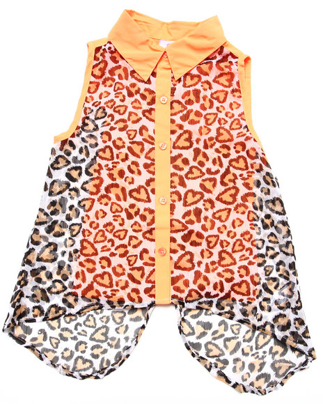 Dollhouse Orange Fashion Tops