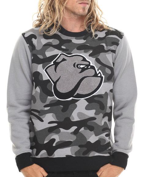 Stall & Dean - Men Grey Ivy League Chenille Sweatshirt