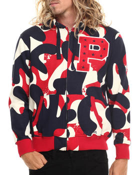 Stall & Dean - Ivy league Chenille Camo Full zip hoody