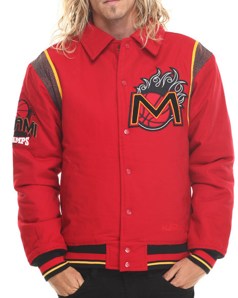 Stall & Dean - Men Red Miami Canvas City Jacket