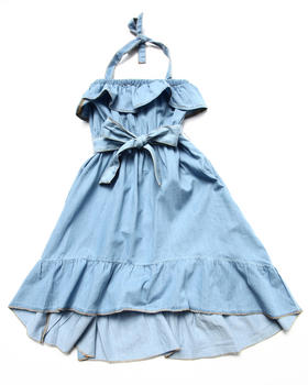 Dollhouse - RUFFLE CHAMBRAY DRESS (4-6X)