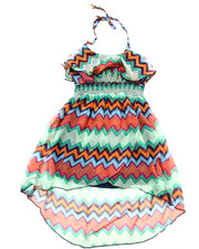 Girls - STRIPED HALTER DRESS (4-6X)