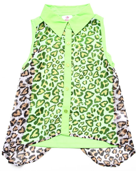 Dollhouse Green Fashion Tops