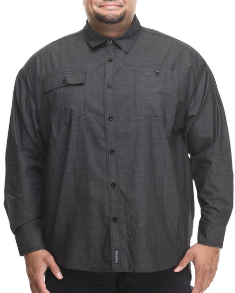 Ecko - Men Black Alliance L/S Button-Down (B&T)