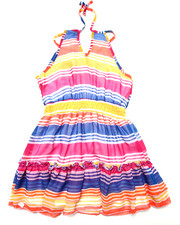 Girls - STRIPED CHIFFON DRESS (7-16)