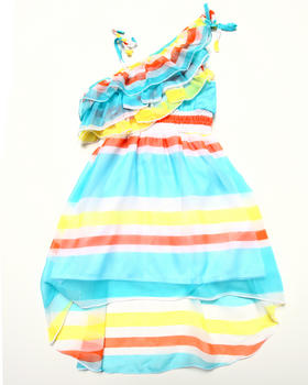 Dollhouse - STRIPED ONE SHOULDER DRESS (4-6X)