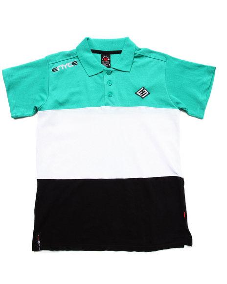 Enyce - Boys Teal Color Block Polo (8-20) - $16.99