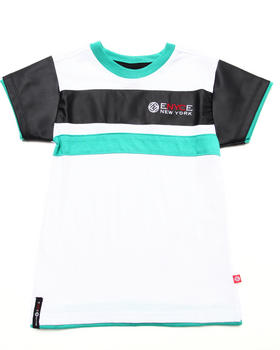 Enyce - S/S TEE W/ FAUX LEATHER SLEEVES (4-7)
