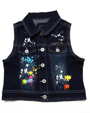 Outerwear - SPLATTER PAINT DENIM VEST (7-16)