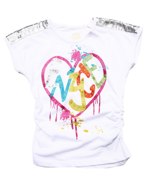 Enyce - Girls White Graffiti Love Tee (7-16)