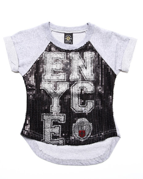 Enyce - Girls Black Enyce Sequin Top (4-6X)