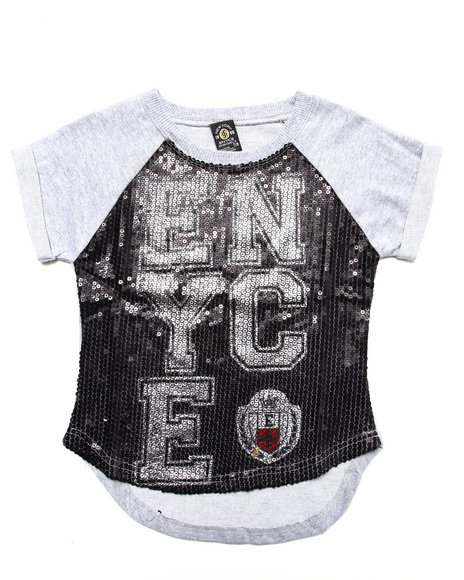 Enyce - Girls Black Enyce Sequin Top (7-16)