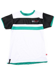 Boys - S/S TEE W/ FAUX LEATHER SLEEVES (8-20)