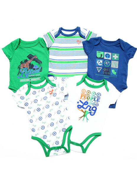LRG - 5 PC CREEPER SET (NEWBORN)