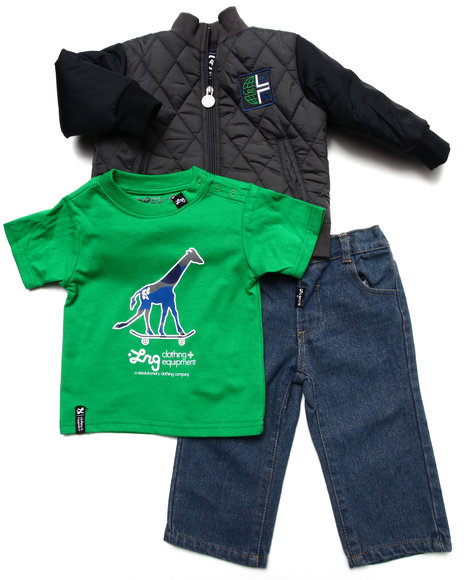 LRG - Boys Multi 3 Pc Set - Track Jacket, Tee, & Jeans (Infant)