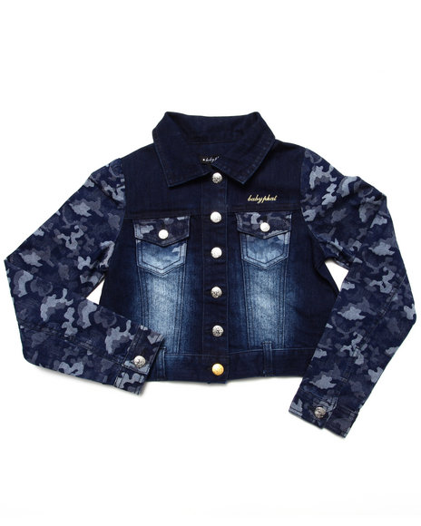 Baby Phat - Girls Camo Camo Denim Jacket (7-16) - $46.00