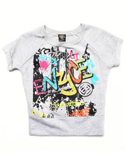 Tops - FRENCH TERRY GRAFFITI TOP (7-16)