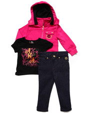 Akademiks - 3PC SET-TEE, JEANS & HOODED SWEATSHIRT (12-24 MOS)