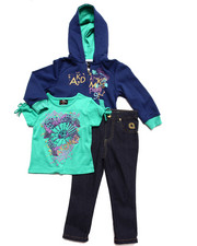 Akademiks - 3PC SET-TEE, JEANS & HOODED SWEATSHIRT (2T-4T)