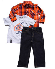 Boys - 3 PC SET - WOVEN, TEE, & JEANS (2T-4T)