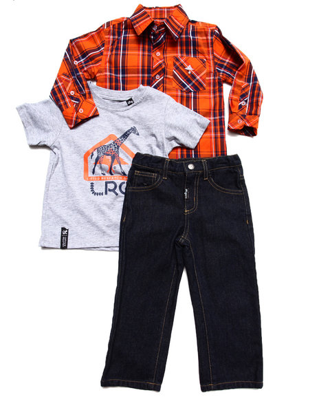 LRG - Boys Multi 3 Pc Set - Woven, Tee, & Jeans (2T-4T)