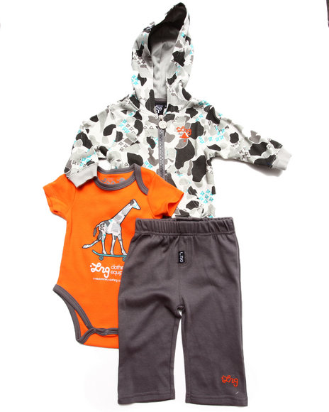 LRG - 3 PC SET - HOODY, BODYSUIT, & PANTS (NEWBORN)