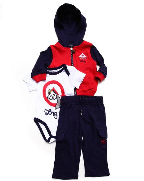 Lrg - Boys Navy 3 Pc Set - Hoody, Bodysuit, & Pants (Newborn)