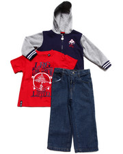 Boys - 3 PC SET - HOODY, TEE, & JEANS (2T-4T)