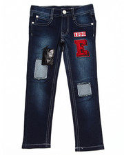 Jeans - DENIM JEANS W/ PATCHES (4-6X)