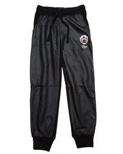 Sizes 7-16 - Big Kids - JOGGER PANTS W/ FAUX LEATHER PANELS (7-16)