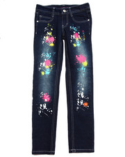Sizes 7-16 - Big Kids - SPLATTER PAINT JEANS (7-16)