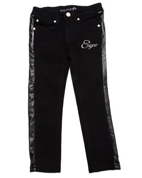 Enyce - FAUX LEATHER TRIM JEANS (4-6X)