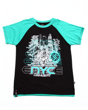 Boys - S/S RAGLAN SCREEN TEE (8-20)