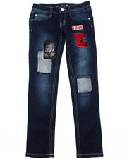 Sizes 7-16 - Big Kids - DENIM JEANS W/ PATCHES (7-16)