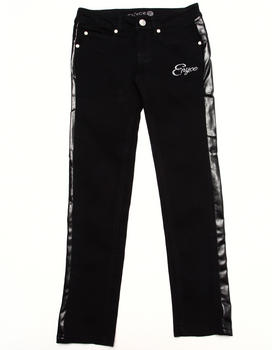 Enyce - FAUX LEATHER TRIM JEANS (7-16)