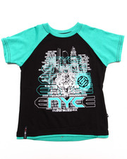 Boys - S/S RAGLAN SCREEN TEE (4-7)