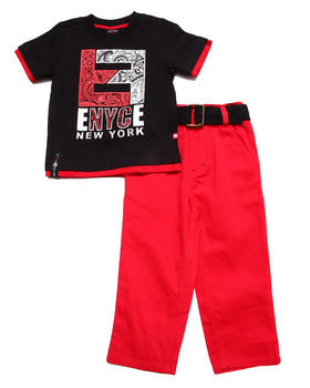 Enyce - 2 PC SET - TEE & JEANS (2T-4T)