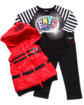 Enyce - 3 PC SET - HOODED VEST, TEE, & JEANS (2T-4T)