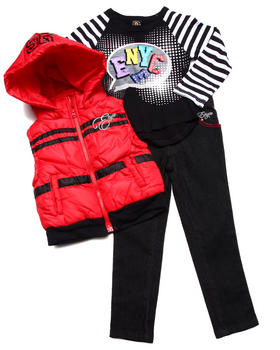 Enyce - 3 PC SET - HOODED VEST, TEE, & JEANS (4-6X)