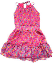 Sizes 7-16 - Big Kids - FLORAL CHIFFON DRESS (7-16)