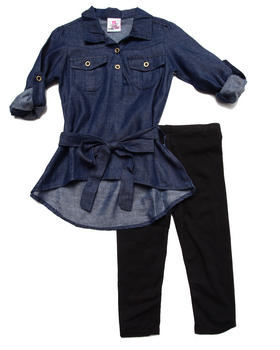 Dollhouse - DENIM TUNIC & LEGGINGS SET (2T-4T)